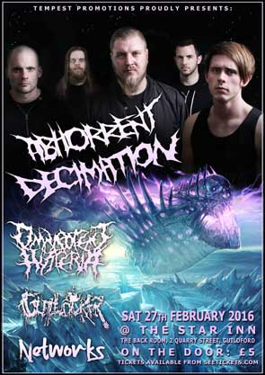 Portrait of Abhorrent Decimation used for poster.