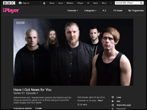 My band portrait of Abhorrent Decimation on Have I Got News For You on BBC 1.