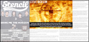 My firewall portrait of Steve Dickson (Mammothfest) in Stencil Magazine.
