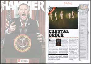 My band portrait of Bleed Again accompanying their 'Hot New Band' feature in Metal Hammer.