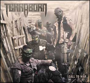 Band portrait trench Terraborn EP cover.