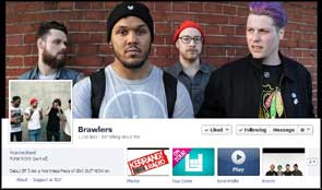 My photo of Brawlers used as a Facebook cover pic.