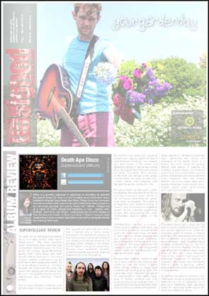 Album cover and promotional portrait of Brighton based Death Ape Disco in Brighton Unsigned's feature on the band.