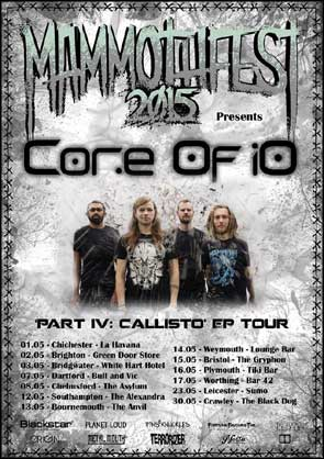 Band portrait of Core Of iO used for a tour poster.