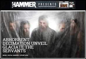 Portrait of Abhorrent Decimation accompanying a Metal Hammer news article on the band.
