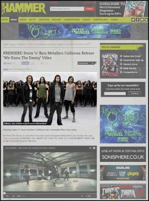 Army of Me portrait of Collisions accompanying Metal Hammer's premiere of the 'We Know The Enemy' video.