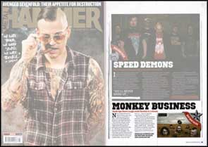 Neckdeep image of Death Ape Disco accompanying their 'Hot New Band' article in Metal Hammer magazine.