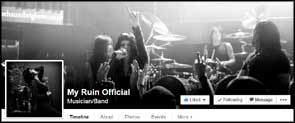 My live portraits of My Ruin used for the band's facebook profile and cover pics.