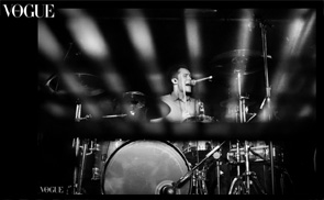 Photo of Matt Donnelly, drummer with Don Broco, selected by Vogue Italia for my portfolio on the PhotoVogue section of their website.
