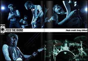 Live shots of Feed The Rhino in Stencil Magazine.