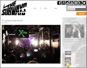 Live pic of The Subways on the band's website blog.
