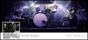 Live image of We Are Knuckle Dragger used for their Facebook cover pic.