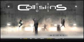 Black Hangar image of Collisions for the website front page.