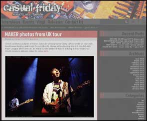 Set of live photos of US band MAKER in Casual Friday  online.