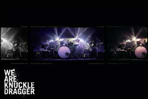 Live shot used for a We Are Knuckle Dragger desktop wallpaper.